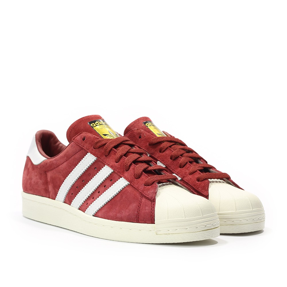 adidas superstar bianche e bordeaux