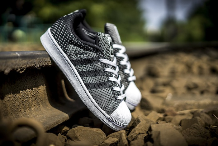 Black White Adidas Superstar Weave